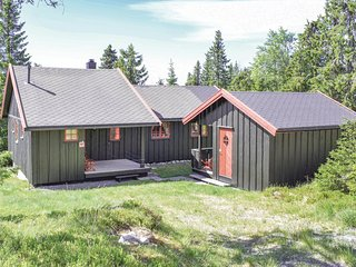 Stunning home in Sjusjøen w/ 2 Bedrooms and WiFi