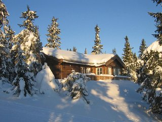 Beautiful home in Sjusjøen w/ Sauna and 4 Bedrooms