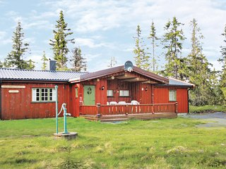 Stunning home in Sjusjøen w/ WiFi and 5 Bedrooms