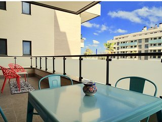 Apartment 2 bedrooms+2 baths & balcony with lunch table - sea views & pool (A2)