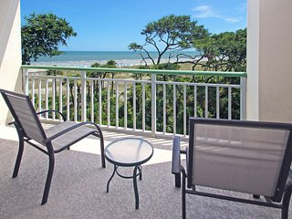 Oceanfront condo with shared hot tub & pools and two balconies!