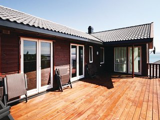 Beautiful home in Nedstrand w/ Sauna and 5 Bedrooms (N17718)