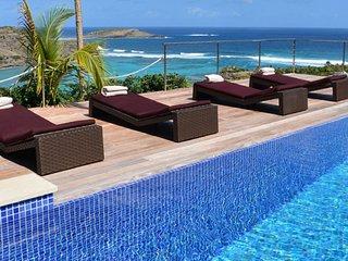 Villa Chambord   Ocean View - Located in Magnificent Petit Cul de Sac with Priv
