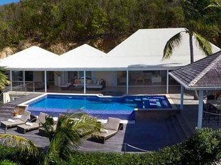 Villa Chambord   Ocean View - Located in Beautiful Petit Cul de Sac with Priva