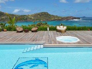 Villa La Vie En Rose | Ocean View - Located in Tropical Petit Cul de Sac with