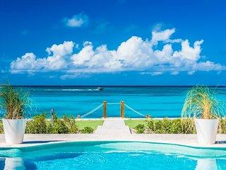 Villa Milestone | Beach Front - Located in Beautiful Grace Bay with Private Po