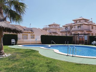 Nice home in Orihuela Costa w/ WiFi and 2 Bedrooms (EBL802)