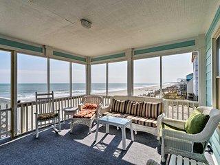 Oceanfront Oasis w/ Sundeck: 12 Mi to Myrtle Beach