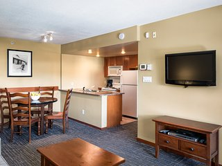 Suite for 4 with a Full Kitchen, Fireplace | Pool + Hot Tub Access