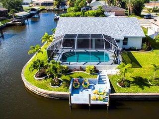 Villa Victoria located on a Gulf Access Canal