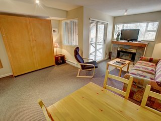 Studio Condo in the Heart of Whistler with a Fireplace + Balcony