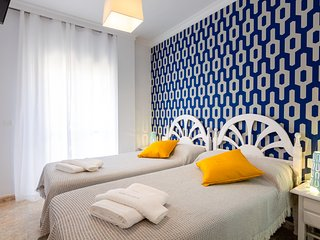 Habitacion con vista a calle Pintada 101 Dobles con dos camas y bano privado