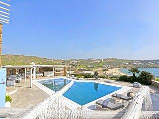 Villa Poseidon, beautiful beachfront villa at Kalo Livadi by Elite Estates