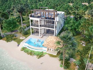 HideAway Villa Maya Beach NEW 1st Class Luxury Beachfront home with Private Pool