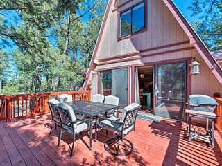 NEW! Secluded Cabin w/ Deck 3 Miles to DT Ruidoso!