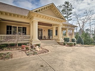 NEW! Lakefront Greensboro Home w/ Dock & Theater!
