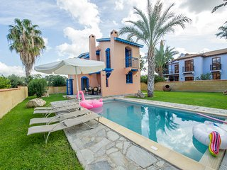 2 bedroom villa with private pool on the beach