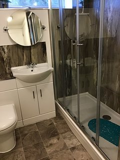 Double shower enclosure, Mira electric shower. No bath