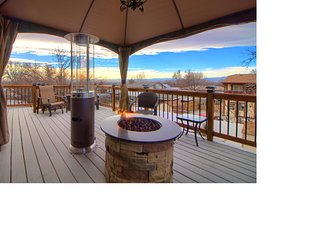 INCREDIBLE MOUNTAIN VIEW FROM THE DECK OF THIS LUXURY APARTMENT SUITE