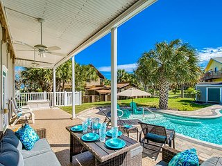 Family Retreat w/ Private Pool, Game Room & Balcony - Steps to Beach!