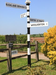 .Finger road sign at Lullington