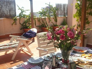PENTHOUSE 3 BED, 2 BATHS SLEEPS 5-6. WIFI, BBQ, LARGE TERRAZA