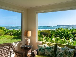 Hanalei Colony Resort I1-steps to sand, oceanfront views, wild & beautiful!