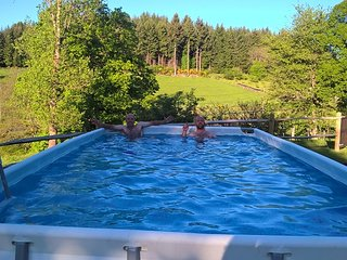 Auvergne holiday gite with private pool, La Tourette.