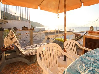 Seaside apartment in Acquacalda w/ terrace & views - steps to a pebble beach!