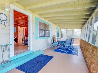 NEW LISTING! Beach cottage with unobstructed Gulf views only steps from the sand