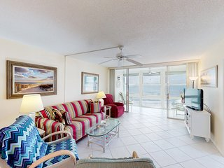 NEW LISTING! Ocean-front condo w/shared pool & Gulf views- steps from the beach!