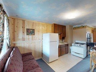Cozy, dog-friendly lodge w/ kitchen, entertainment, ski access & shared hot tub!