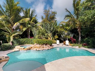Freshly remodeled house with heated private pool and tropical style