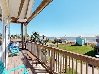 Gulf view home w/ new decor, decks & amazing views - steps to beach, dogs OK!