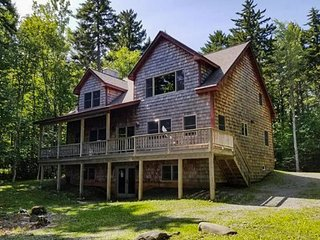 New lakefront home on Moosehead Lake w/views, deck & firepit