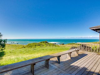 Dog-friendly home, w/sweeping ocean views, shared pool, & prime location!