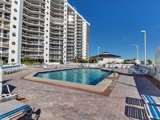 NEW LISTING! Beachfront resort condo w/ balcony & shared pool/hot tub/gym/tennis