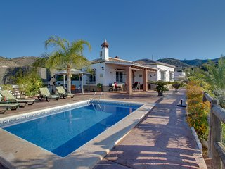Hilltop villa with private pool, outdoor dining area, patio & amazing view