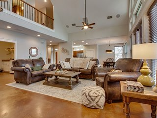 NEW LISTING! Lakefront home w/ entertainment, dock & lake views - dogs OK!