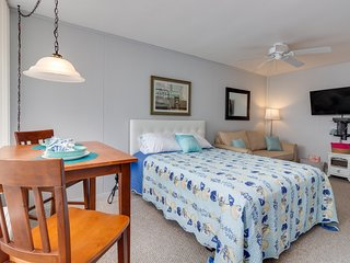 NEW LISTING! Studio just steps from the beach, shops, and local attractions