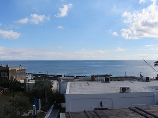 Large apartment w/ terrace, ocean and volcano views - walk to dining & beach!