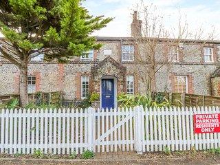 2 STATION COTTAGES, Grade II listed flint cottage, woodburner, enclosed garden