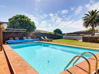 One-of-a-kind historic villa w/ private hot tub, pool, & stone architecture!