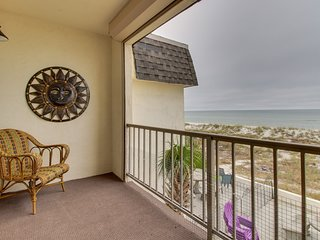 NEW LISTING! Beautifully updated beachfront townhome w/deck, balcony & Gulf view
