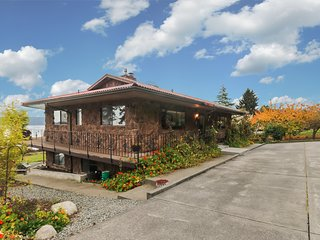 Waterfront home on Sequim Bay w/ patio, fireplace & beautiful views