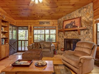 Dog-friendly cabin in the woods w/ fireplace, two decks
