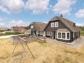 Beautiful home in Blavand w/ Sauna, WiFi and 6 Bedrooms (A3141)