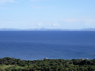 Sea view and Sardinian cost from the house.