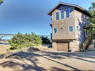 NEW LISTING! Gorgeous bayfront home w/bay & ocean views -near the beach