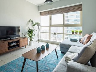 Stylish + Bright 1BR with Dubai Marina views!